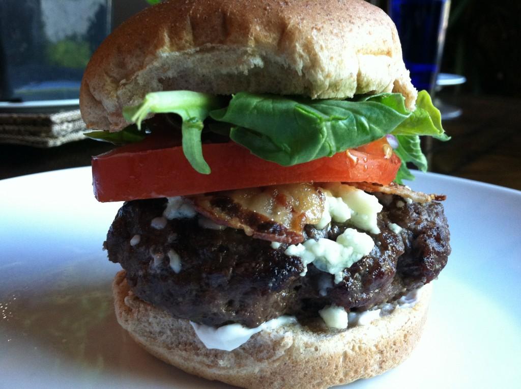 Healthy BBQ Bacon Blue Cheese Burgers