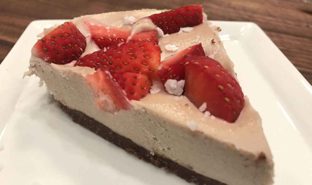 Dairy Free Strawberry Cheesecake