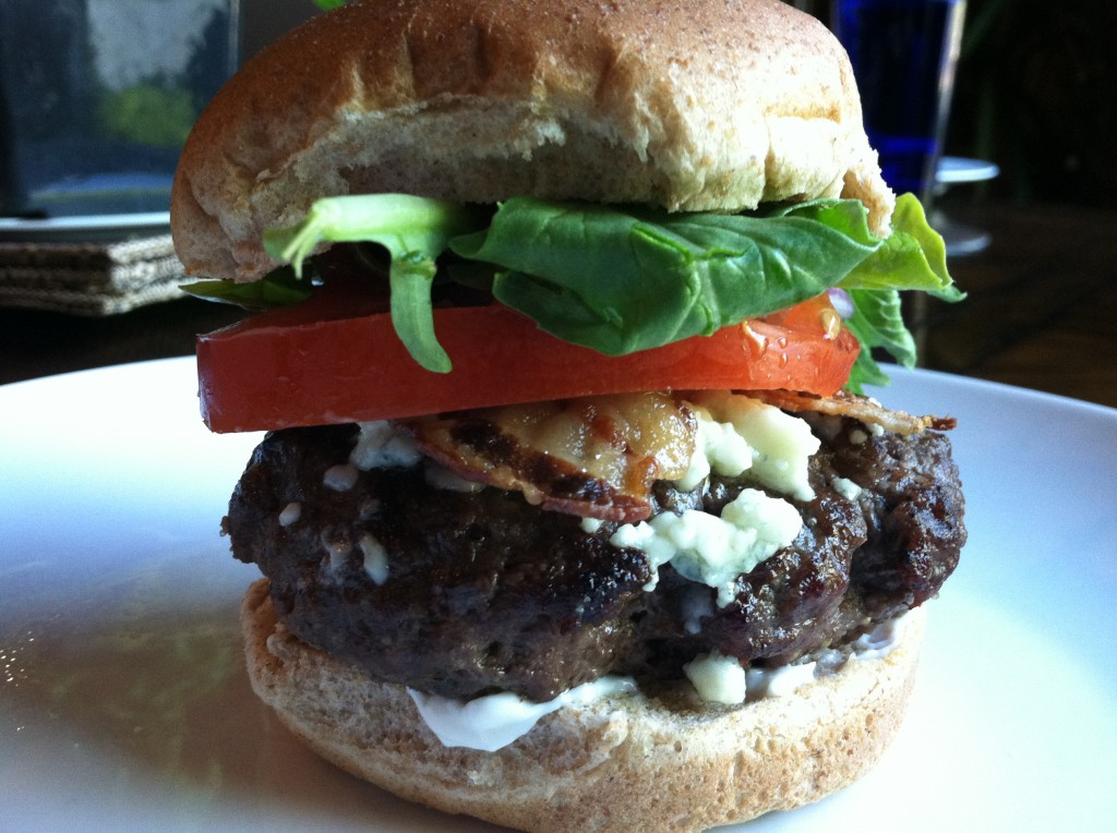 Healthy BBQ Bacon Blue Cheese Burgers
