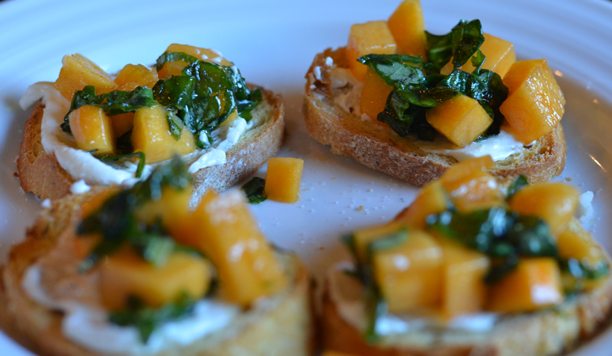 Persimmon Bruschetta Crostinis